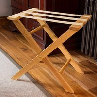 Handmade Oak Suitcase Luggage Rack - Handmade Gifts