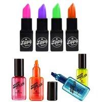 Lipstick and Nail Varnish Highlighter Set - Nail Varnish Gifts