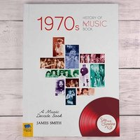 Personalised 1970s Music History Book - Books Gifts