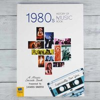 Personalised 1980s Music History Book - Books Gifts