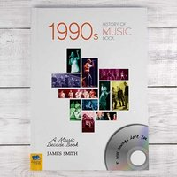 Personalised 1990s Music History Book - The Present Finder Gifts