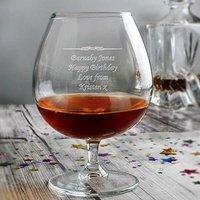 Personalised Brandy Glass - Brandy Gifts