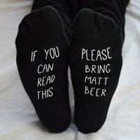 Personalised If You Can Read This Socks For Him - Read Gifts