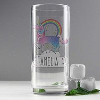 Personalised Unicorn Drinking Glass - The Present Finder Gifts