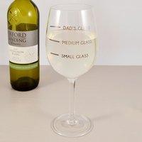 Dad's Measure Wine Glass - Wine Glass Gifts