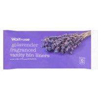 Waitrose Vanity Bin Liners Lavender Fragranced