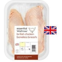 essential Waitrose 2 boneless British chicken breasts