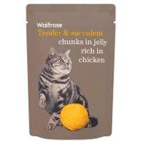 Waitrose chunks in jelly rich in chicken