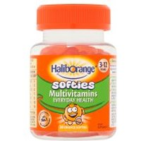Kids multivitamin fruit softies orange