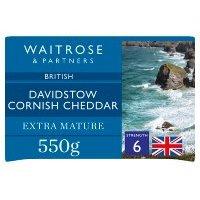 Waitrose Extra Mature Cornish Cheese 550g