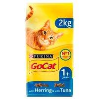 Go-Cat Adult Dry Cat Food Tuna Herring and Veg