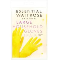 essential Waitrose household gloves, large