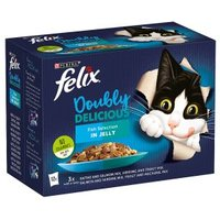 Felix As Good As It Looks Doubly Delicious Cat Food Fish