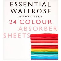 essential Waitrose Colour Absorber Sheets