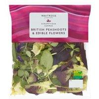 Waitrose British Peashoots & Edible Flowers