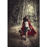 Fine Art Photography Print, Red Riding Hood, Fantasy Giclee Print, Limited Edition of 5