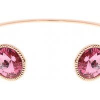 Ladies Ted Baker Rose Gold Plated Revenna Double Rivoli Crystal Ultra Fine Cuff TBJ1158-24-04