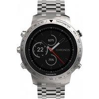 Mens Garmin Fenix Chronos Bluetooth GPS HR Alarm Chronograph Watch 010-01957-02