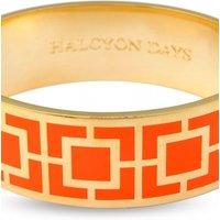 Ladies Halcyon Days Gold Plated Maya Bangle HBMAY0720G