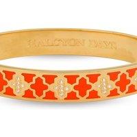 Ladies Halcyon Days Gold Plated Agama Sparkle Bangle HBAGA0710G