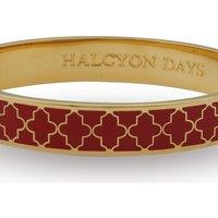 Ladies Halcyon Days Gold Plated Agama Bangle HBAGA0610G