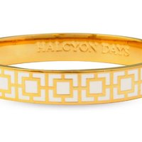 Ladies Halcyon Days Gold Plated Mosaic Bangle HBMOS0510G