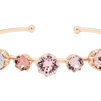 Ladies Ted Baker Rose Gold Plated Cheska Crystal Crown Ultrafine Bangle TBJ1331-24-34