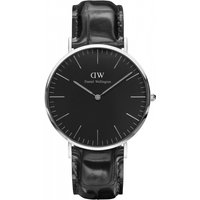 Image of Unisex Daniel Wellington Classic Black Reading Watch 40mm Watch DW00100135