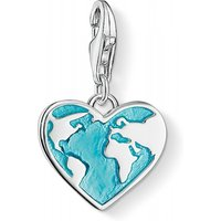 Ladies Thomas Sabo Sterling Silver Charm Club Heart Charm 1429-007-17