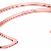 Ladies Calvin Klein Rose Gold Plated Medium Outline Bangle KJ6VPF10010M