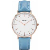 Image of Ladies Cluse La Boheme Limited Edition Retro Blue Watch CL18033