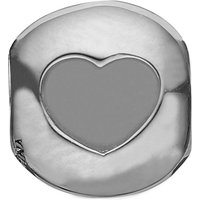 Ladies Christina Sterling Silver Open your Heart Bead Charm 623-S07