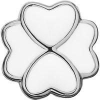 Ladies Christina Sterling Silver Enamel Foursome White Bead Charm 623-S45