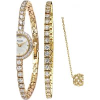 Ladies Accurist Bracelet and Necklace Gift Set Watch LB1803