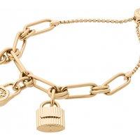 Ladies Michael Kors Gold Plated Charm Bracelet MKJ6816710