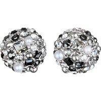 Ladies Karl Lagerfeld Silver Plated Scattered Crystal Earrings 5378330