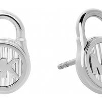 Ladies Michael Kors Silver Plated Logo Stud Earrings MKJ6811040