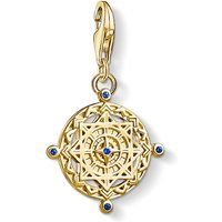 Image of Ladies Thomas Sabo Gold Plated Sterling Silver Charm Club Vintage Compass Charm 1662-922-39