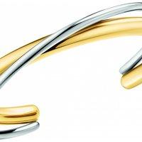 Ladies Calvin Klein Two-tone steel/gold plate Double Thick Bangle KJ8XJF20010M