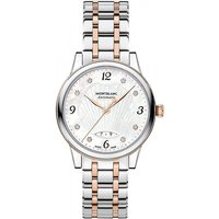 Image of Ladies Montblanc Boheme 28mm Date Automatic Diamond Watch 119098