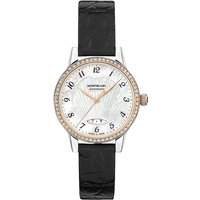 Image of Ladies Montblanc Boheme 28mm Date Automatic Diamond Watch 116500
