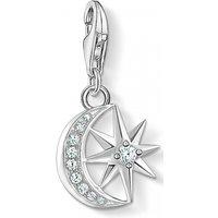 Image of Thomas Sabo Jewellery Zirconia Star & Moon Charm 1794-051-14