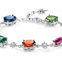 Image of Thomas Sabo Jewellery Magic Stones Colourful Star Bracelet A1910-342-7-L19V