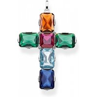 Image of Thomas Sabo Jewellery Magic Stones Colourful Cross Pendant PE858-318-7