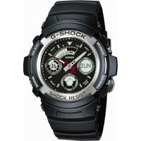 Image of Mens Casio G-Shock Alarm Chronograph Watch AW-590-1AER