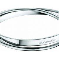 Image of Ladies Calvin Klein Stainless Steel Small Coil Bangle KJ63AB01010S