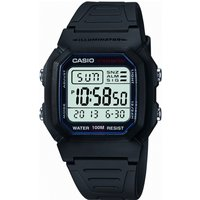 Image of Mens Casio Sports Gear Alarm Chronograph Watch W-800H-1AVES