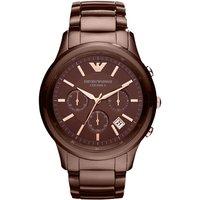Image of Mens Emporio Armani Ceramic Chronograph Watch AR1454