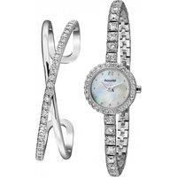 Ladies Accurist Bangle Gift Set Watch Lb1800