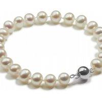 Jersey Pearl Classic Freshwater Pearl Bracelet Silver JEWEL S5S7-5
